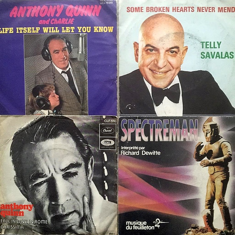 Telly Savalas meets Anthony Quinn in Brussels