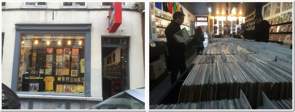 Veeas and Geeks Brussels record store