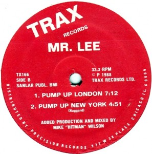 Mr Lee Pump up London label