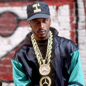 Eric B Rakim with fat gold chain Mercedes